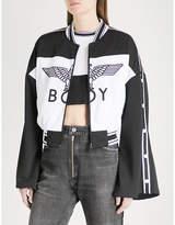 Boy London Eagle-logo shell bomber jacket