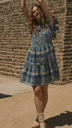 Sea Margot Border Tiered Dress