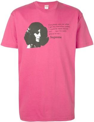Supreme mean print T-shirt