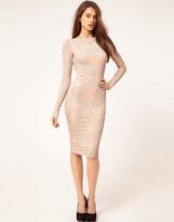 Asos Midi Dress In Glitter Print
