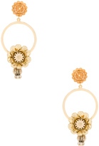Dolce & Gabbana Flower Hoop Earrings