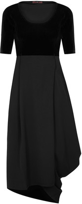 High Ripple Black Panelled Midi Dress