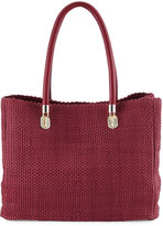 Cole Haan Benson Woven Leather Tote Bag, Cabernet