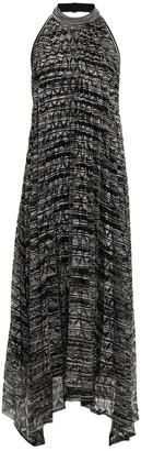 Missoni Pleated Crochet-knit Halterneck Midi Dress