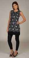 Sleeveless Black and White Floral Print Dresses by Renee DuMarr