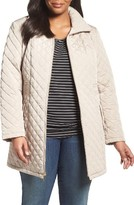 Gallery Plus Size Women's Side Tab Quilted Jacket