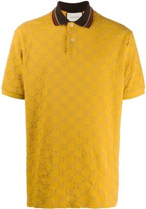 Gucci embroidered GG Supreme polo shirt