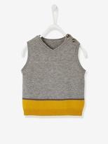 Baby Boys' Striped Waistcoat - grey medium mixed color, Baby | Vertbaudet