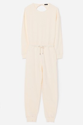 Nasty Gal Womens Keep It Casual Lounge Jumpsuit - Cream - 8
