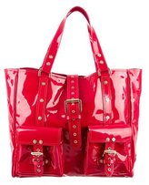 Mulberry Studded Patent Leather Tote