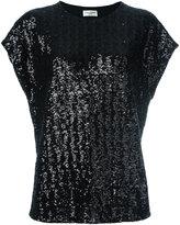 Saint Laurent sequin embellished T-shirt