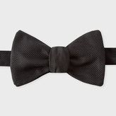 Paul Smith Men's Plain Black Silk Untied Bow Tie