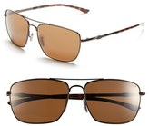 Smith Optics Women's 'Nomad' 59Mm Polarized Sunglasses - Dark Gray/ Polar Blue Mirror