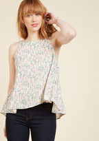 ModCloth Play Me a Petunia Sleeveless Top in XL