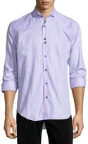 Bogosse Houndstooth Long-Sleeve Sport Shirt, Pink