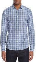 Michael Kors Wyatt Plaid Slim Fit Button-Down Shirt