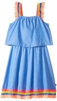 Tommy Hilfiger Crochet Sleeve and Hem Dress Girl's Dress