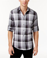 Alfani Aflani Men's Owen Plaid Long-Sleeve Shirt, Only at Macy's