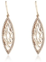 Effy Jewelry Effy 14K Rose Gold Diamond Shema Hook Earrings, 0.49 TCW