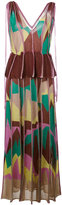 M Missoni geometric print peplum dress - women - Polyester/Viscose - 40