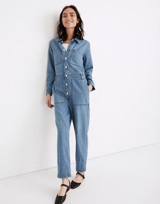 Madewell Denim Relaxed Coverall Jumpsuit in Glenroy Wash