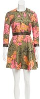 Roksanda Satin Floral Print Dress