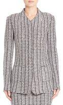 St. John Tweed Knit Zip-Front Jacket