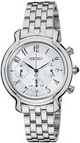 Seiko Women's Quartz Watch Chronograph Display and Stainless Steel Strap SRW875P1