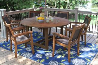 Outdoor Interiors 7Pc Eucalyptus & Sling Dining Set
