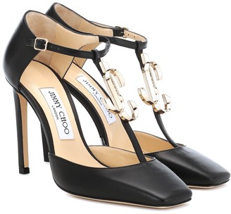 Jimmy Choo Lexica 100 leather pumps