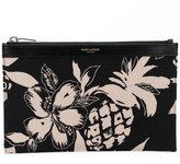 Saint Laurent medium hibiscus print pouch