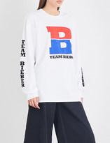 Justin Bieber Team Bieber cotton-jersey top