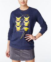 Mighty Fine Juniors' Pikachu Faces Graphic Sweatshirt