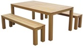 3 Piece Esperance Outdoor Timber Dining Table & Bench Set