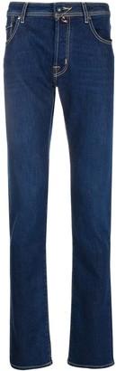 Jacob Cohen Stretch Fit Straight Leg Denim Jeans