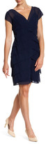 Marina Cap Sleeve Chiffon Dress