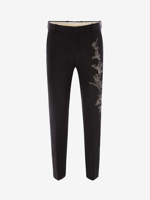 Alexander McQueen Floral Sash Jacquard Pants