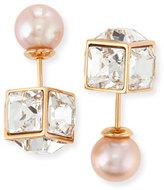 Vita Fede Double Cubo Gemma Pearl Earrings