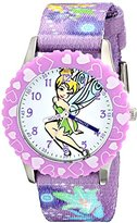 Disney Kids' W001927 Tinker Bell Analog Display Analog Quartz Purple Watch