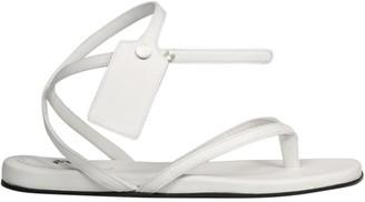 Off-White Zip Tie Flat Sandal