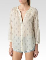 Paige Sammy Top - White/Evening Blue/Orchid-Ikat