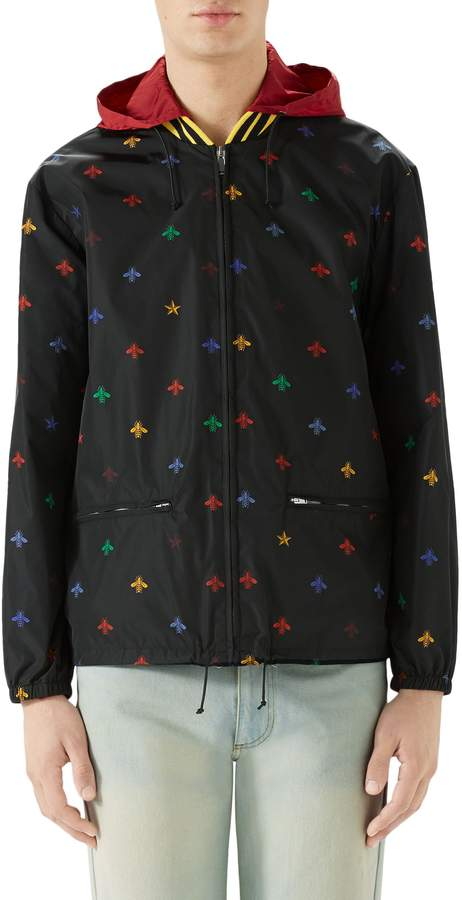 Gucci Bee Print Lightweight Jacket