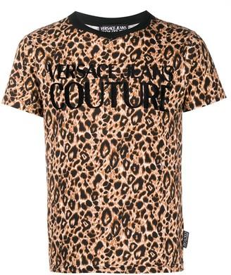 Versace leopard print crew-neck T-shirt