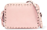 Valentino The Rockstud Textured-leather Shoulder Bag - Baby pink