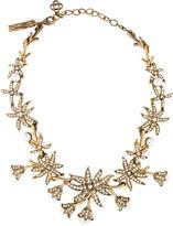 Oscar de la Renta Flower Crystal & Pearl Collar Necklace