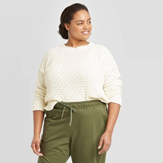 A New Day Women's Plus Size Crewneck Textured Pullover Sweater