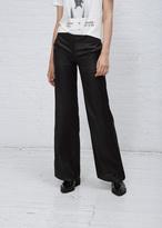 Yang Li Black Elegant Wide Trouser Snake Sateen