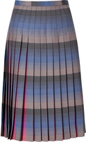 Marc by Marc Jacobs Electric Magenta/Tonal Periwinkle Wool Plaid Irina Skirt