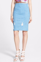 Lucy Paris Ripped Denim Skirt