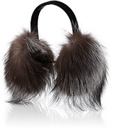 Barneys New York Women's Fur Earmuffs-GREY, BLACK